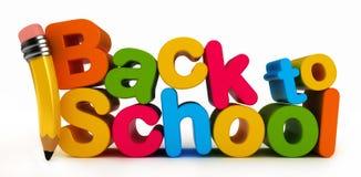 Zurück zu Schule-Wort Stockbild