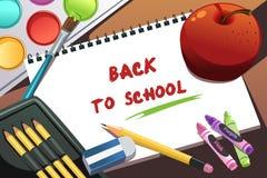 Zurück zu Schulehintergrund Stockfotos