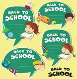 Zurück zu Schulfahnendesign Stockfotos