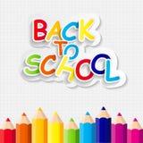 Zurück zu Schulkonzept-Vektor-Illustration Stockfotografie