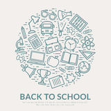 Zurück zu Schulvektor Hintergrund Stockfoto
