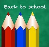 Zurück zu Volksschule Stockfotos