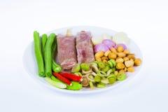 Zure heerlijk varkensvlees en braadstukken Stock Afbeelding