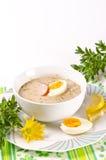 Zurek é uma sopa polonesa aceitável de Easter imagens de stock royalty free