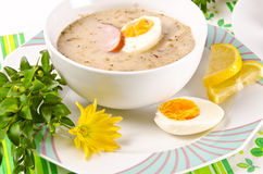 Zurek is a decent Polish Easter soup Royalty Free Stock Photos