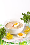 Zurek is a decent Polish Easter soup Royalty Free Stock Images