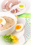 Zurek is a decent Polish Easter soup Stock Photo