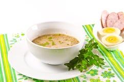 Zurek is a decent Polish soup. A fresh Zurek is a decent Polish soup Stock Photography