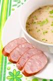 Zurek is a decent Polish soup. A fresh Zurek is a decent Polish soup Stock Photos