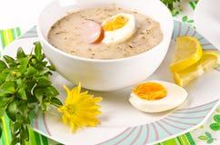 Zurek is een fatsoenlijke Poolse soep van Pasen royalty-vrije stock foto's