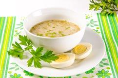 Zurek is a Polish soup Stock Images
