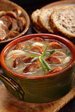 Zurek traditional polish easter soup with white sausage Stock Photos