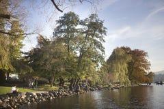 Zurich湖边 库存图片