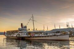 Zurich łódź fotografia royalty free