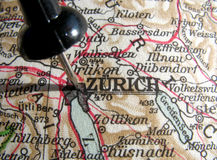 Zurich. The way we looked at Zurich in 1949 Royalty Free Stock Photography