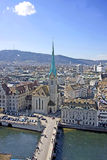 Zurich from above 4 Stock Images