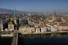 Zurich aerial 01, Switzerland Royalty Free Stock Images