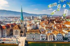 Zurich aerial view Stock Image