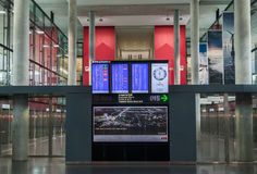 Zurich Airport Flight Display Stock Photo