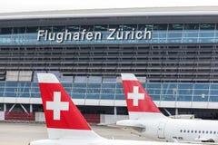 Zurich airport. Kloten, Switzerland - 5 August, 2015: Zurich Kloten Airport building. Zurich Kloten Airport (also known as Zurich Airport) is the largest Royalty Free Stock Photography