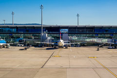 Zurich airport terminal stock image