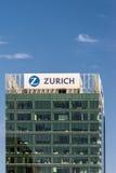 Zurich Asekuracyjnego biura wierza śródmieście Auckland Zdjęcia Royalty Free