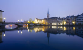 Free Zurich At Night Royalty Free Stock Image - 22885026