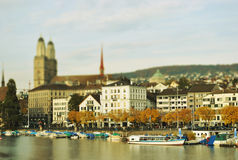 Zurich in autumn. Beautiful Zurich in autumn.  Switzerlan Royalty Free Stock Image