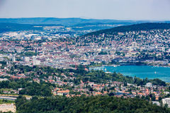 Zurich and the bay area, Switzerland Stock Photo