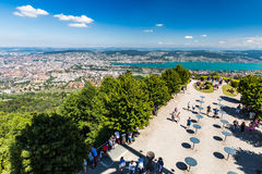 Zurich and the bay area, Switzerland Stock Photography