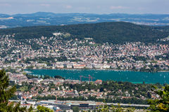 Zurich and the bay area, Switzerland Royalty Free Stock Image