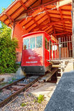 Zurich cable car, summit station Royalty Free Stock Image