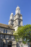 Zurich Cathedral. View of central cathedral in Zurich Royalty Free Stock Photography