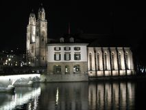 Zurich cathedrale Stock Images