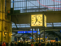 Zurich central train station Royalty Free Stock Photo