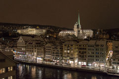 Zurich Centre by night Stock Photo