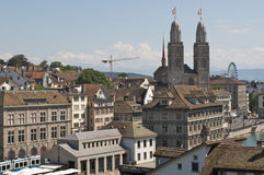 Zurich city aerial scene Stock Photos