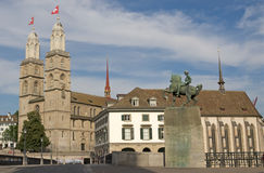 Zurich city scene stock photo
