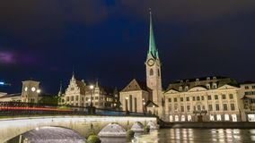 Zurich Time Lapse stock video footage