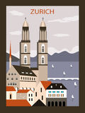 Zurich city. Royalty Free Stock Images