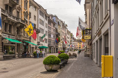 Zurich City in the Switzerland Royalty Free Stock Photo