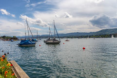 Zurich City in the Switzerland Royalty Free Stock Photos