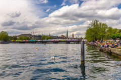 Zurich City in the Switzerland Royalty Free Stock Photography