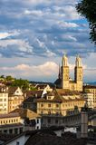 Zurich city view from hill 2 stock photography