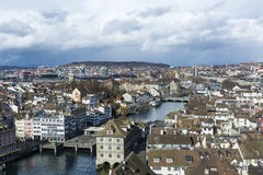 Zurich city view Royalty Free Stock Photos