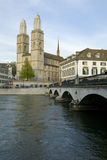 Zurich city. Zurich Cathedral. Stock Photography