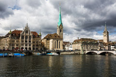 Zurich cityscape Royaltyfri Fotografi