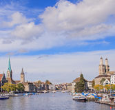 Zurich cityscape. Zurich, Switzerland - cityscape in autumn Royalty Free Stock Photography