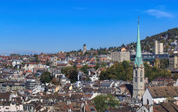 Zurich cityscape in autumn Stock Images