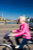 Zurich cityscape with city traffic Royalty Free Stock Photos
